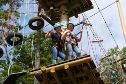 On the high rope course