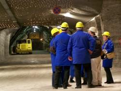 Arrival in the foyer 700 meters underground
