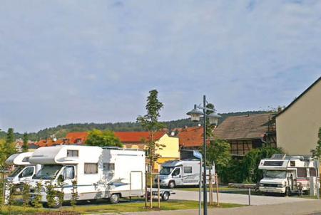 Wohnmobil-Stellplatz an der Kyffhäuser-Therme